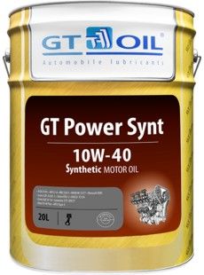 Масло моторное GT OIL Power Synt 10W-40